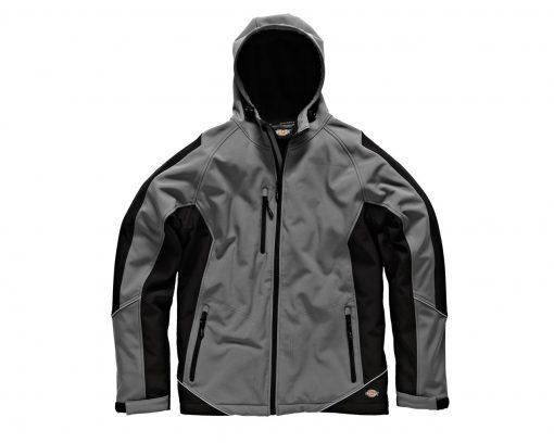 two tone soft shell jacket grey