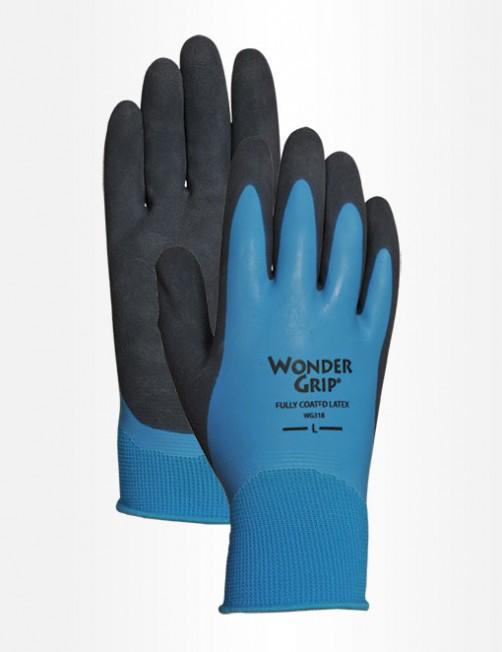 wonder grip glove aqua