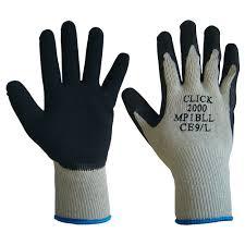 black latex glove