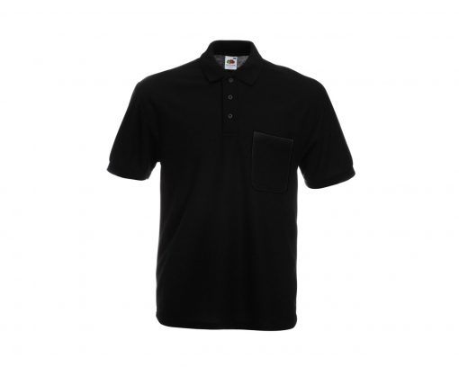 fruit of the loom 65 35 polo black