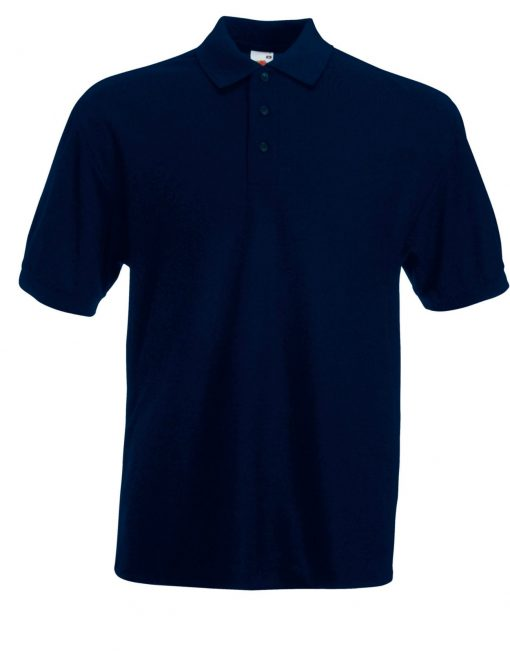 fruit of the loom polo 65 35 navy