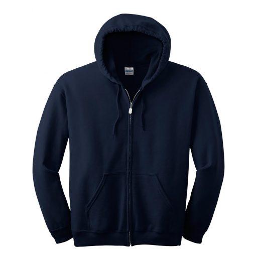 gildan 18600 zip hoodie navy