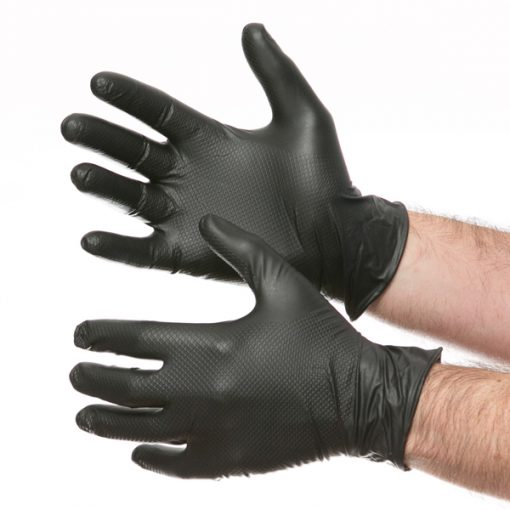 gripster gloves fish scale black