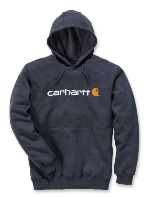 carhartt signature hoodie charcoal heather