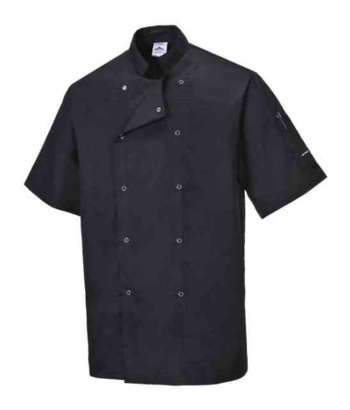 cumbria chef jacket short sleeve