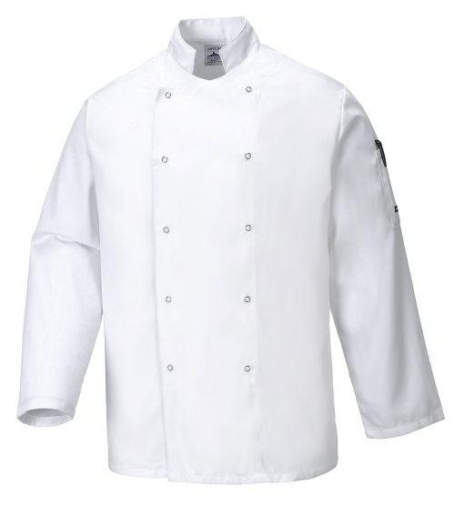 suffolk chef jacket long sleeve
