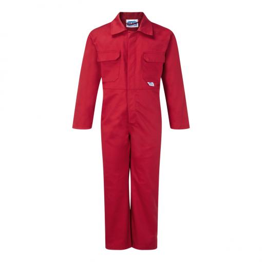 blue castle tearaway junior boilersuit red