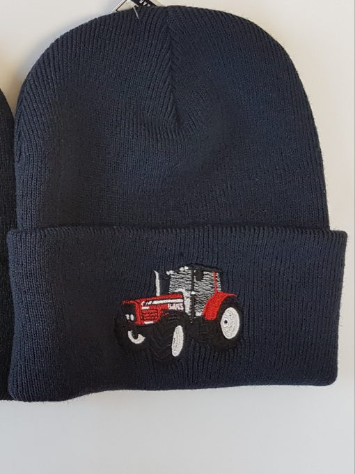 cuffed beanie with red tractor