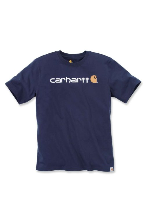 carhartt core logo t shirt 103361 navy