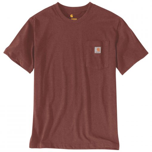 carhartt k87 pocket t shirt iron ore