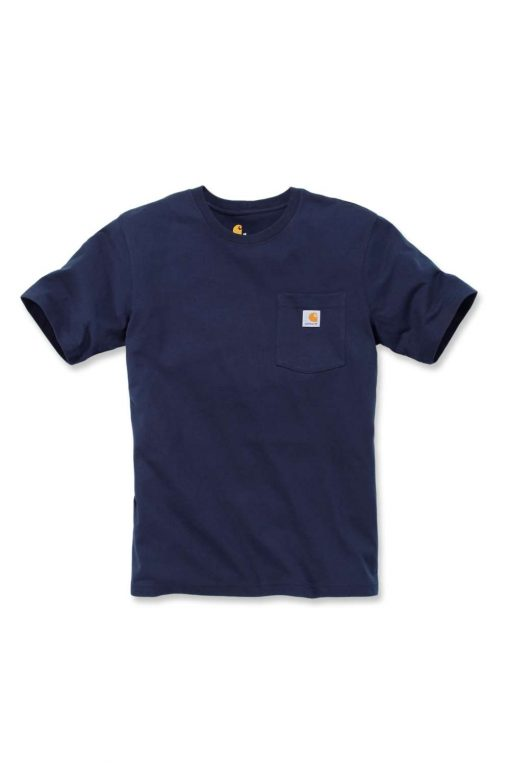 carhartt k87 pocket t shirt navy