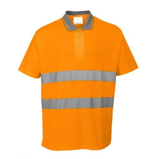 hi vis polo polycotton s 171 orange