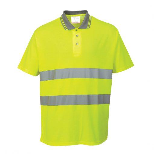 hi vis polo polycotton s171 yellow