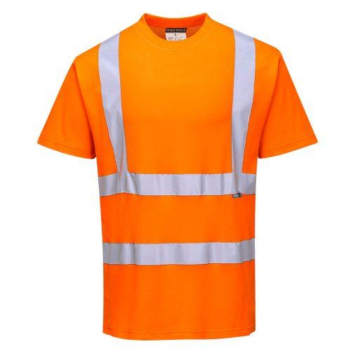 hi vis polycotton t shirt s170 orange