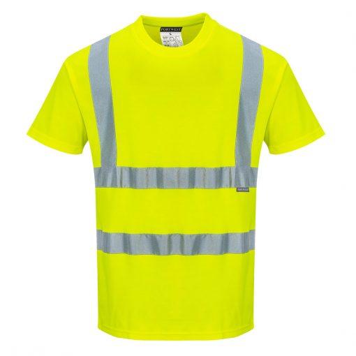 hi vis polycotton t shirt s170 yellow