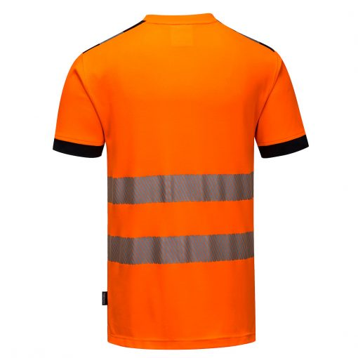hi vis t shirt t181 orange black back