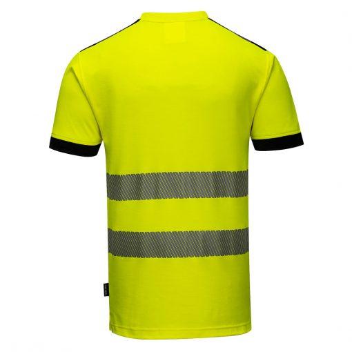 hi vis t shirt t181 yellow black back